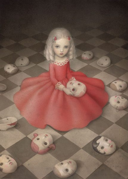 A girl hides secret, Nicoletta Ceccoli
