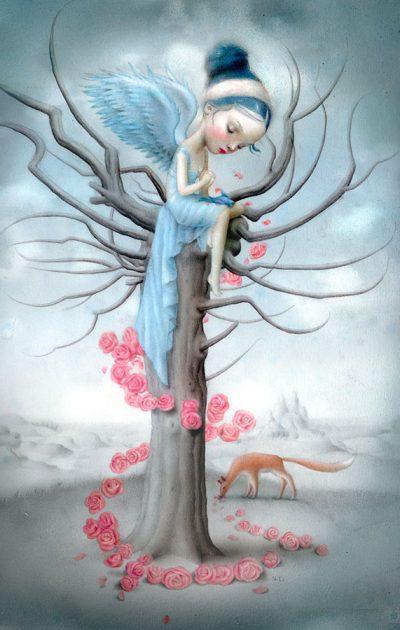 Blue bird and the fox, Nicoletta Ceccoli