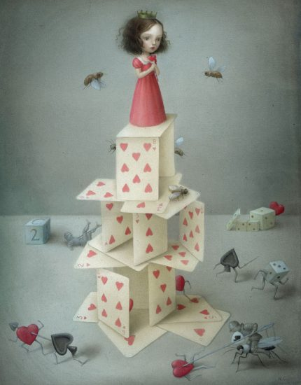 Card castle, Nicoletta Ceccoli